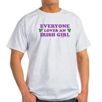 Everyone Loves An Irish Girl Pink Light T-Shirt