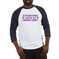 Everyone Loves An Irish Girl Pink Baseball Jersey