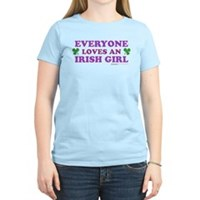 Everyone Loves An Irish Girl Pink Women's Light T-