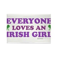 Everyone Loves An Irish Girl Pink Rectangle Magnet