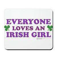 Everyone Loves An Irish Girl Pink Mousepad