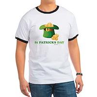 St Patrick's Day Hat Ringer T