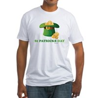 St Patrick's Day Hat Fitted T-Shirt
