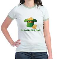 St Patrick's Day Hat Jr. Ringer T-Shirt