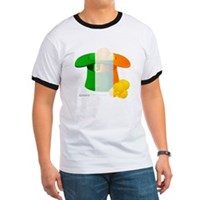 Irish Hat Flag Colors Ringer T