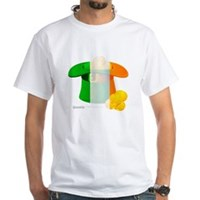 Irish Hat Flag Colors White T-Shirt