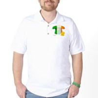 Irish Hat Flag Colors Golf Shirt