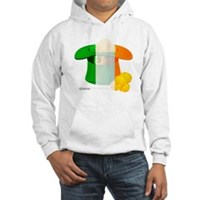 Irish Hat Flag Colors Hooded Sweatshirt