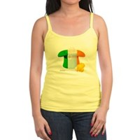 Irish Hat Flag Colors Jr. Spaghetti Tank