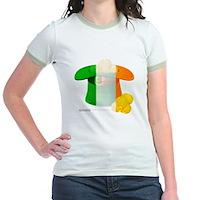 Irish Hat Flag Colors Jr. Ringer T-Shirt