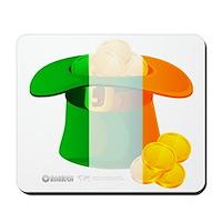 Irish Hat Flag Colors Mousepad