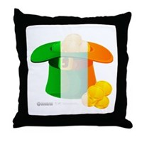 Irish Hat Flag Colors Throw Pillow
