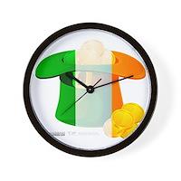 Irish Hat Flag Colors Wall Clock