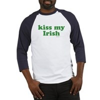 Kiss My Irish Baseball Jersey
