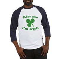 Kiss Me Im Irish Clover Baseball Jersey