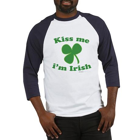Kiss Me Im Irish Clover Baseball Jersey