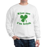 Kiss Me Im Irish Clover Sweatshirt