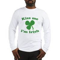 Kiss Me Im Irish Clover Long Sleeve T-Shirt