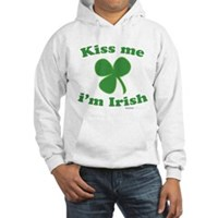 Kiss Me Im Irish Clover Hooded Sweatshirt