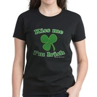 Kiss Me Im Irish Clover Women's Dark T-Shirt