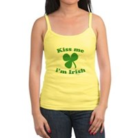 Kiss Me Im Irish Clover Jr. Spaghetti Tank