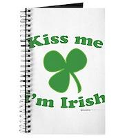 Kiss Me Im Irish Clover Journal