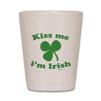 Kiss Me Im Irish Clover Shot Glass