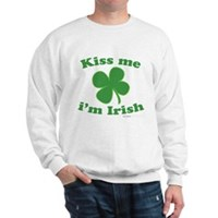 Kiss Me Im Irish Lucky Clover Sweatshirt