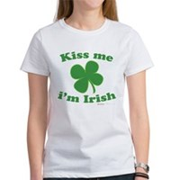 Kiss Me Im Irish Lucky Clover Women's T-Shirt