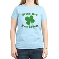 Kiss Me Im Irish Lucky Clover Women's Light T-Shir