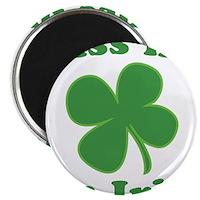 Kiss Me Im Irish Lucky Clover Magnet