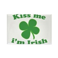 Kiss Me Im Irish Lucky Clover Rectangle Magnet