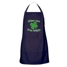 Kiss Me Im Irish Lucky Clover Apron (dark)