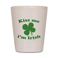 Kiss Me Im Irish Lucky Clover Shot Glass