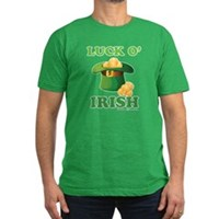 Luck o' Irish Men's Fitted T-Shirt (dark)