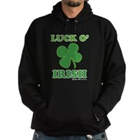 Luck O' Irish Clover Hoodie (dark)