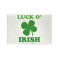 Luck O' Irish Clover Rectangle Magnet