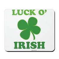 Luck O' Irish Clover Mousepad