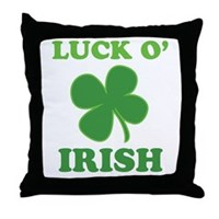 Luck O' Irish Clover Throw Pillow