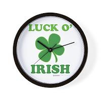 Luck O' Irish Clover Wall Clock