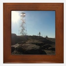 Hadley Mountain Firetower Framed Tile