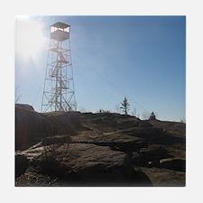 Hadley Mountain Firetower Tile Coaster