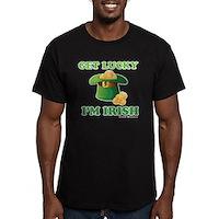 Get Lucky Im Irish Men's Fitted T-Shirt (dark)