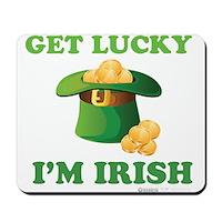 Get Lucky Im Irish Mousepad