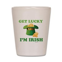 Get Lucky Im Irish Shot Glass