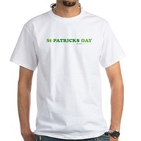 Green St Patrick's Day White T-Shirt
