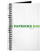 Green St Patrick's Day Journal