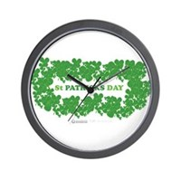 St Patrick's Day Reef Wall Clock