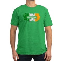 St Patrick's Day Reef Flag Men's Fitted T-Shirt (d