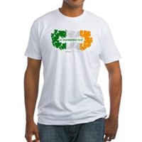St Patrick's Day Reef Flag Fitted T-Shirt